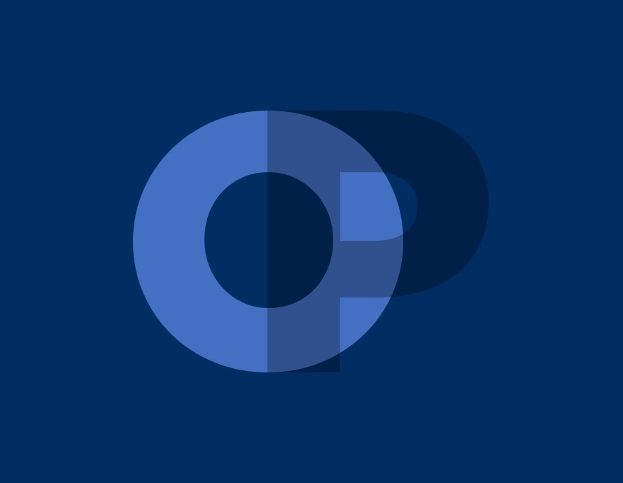 Post Fallback Image: a light blue 'O' and 'P' appear on a dark blue background