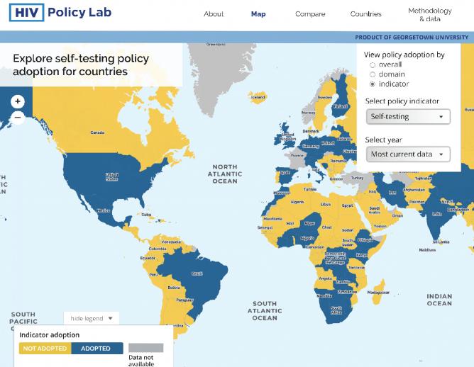 HIV Policy Lab Screenshot