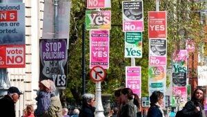 Ireland Abortion Referendum Signs