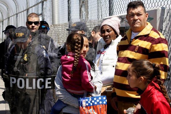 Asylum seekers on the US-Mexico Border