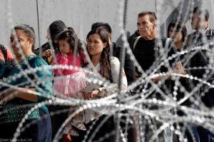Asylum Seekers on US border photo