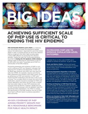 Big Ideas: Ending the HIV Epidemic
