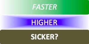 Faster, higher, sicker? graphic