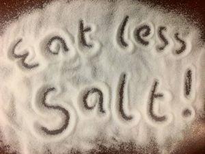 Eat less salt graphic