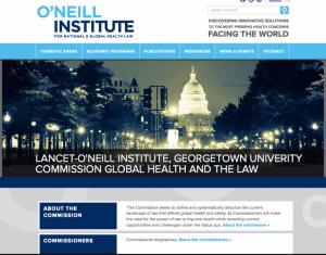 Lancet- O'Neill website page screenshot