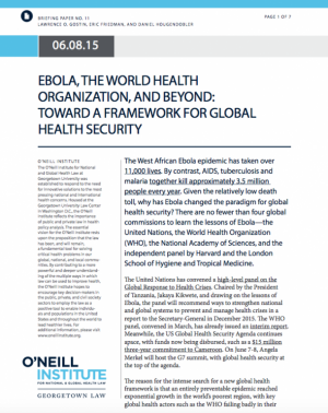 Ebola Briefing paper screenshot