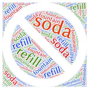 Soda refill ban graphic