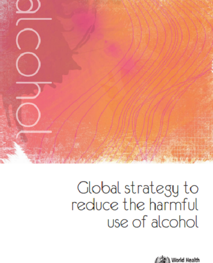 Global Strategy to reduce the harmful use of alcohol report cover page