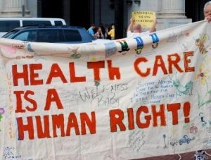 Health care is a human right protest