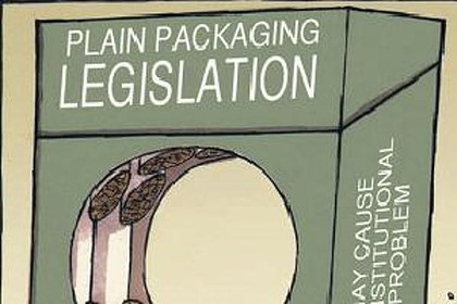 Plain Packaging Legislation graphic