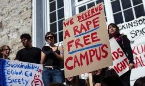 College Protest against Rape Image